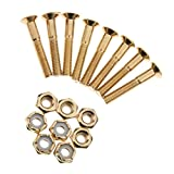 Sharplace 8pcs Skateboard Schrauben und Muttern Montage Set, Golden