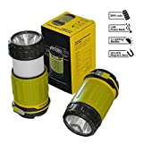 Wiederaufladbare Camping Laterne - Ultra helle 360° LED Laterne - Gleichzeitig POWERBANK für Smartphone etc. - Taschenlampe für Zelte - Tragbare Außenleuchte und optimal für Camper 3600mAh