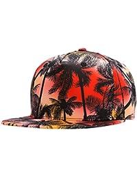 Wuke Sombrero Hip Hop Gorras de Beisbol para parejas 3D Impreso Coco Moda  Refresco Vacaciones Plano ad018ade9cd