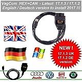 Hex Can VagCom 17.1.3 Diagnosekabel VW AUDI SKODA SEAT ✔ Deutsch/Englisch ✔