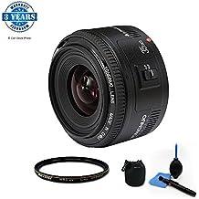 YONGNUO YN35mm F2 AF/MF Objetivo Longitud Focal Fija Lente Gran Angular para Canon EOS EF Cámara con 52 mm UV