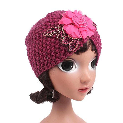 KanLin Baby Girls Knitting Hat Beanie Turban Head Wrap (Hot (Propeller Mit Beanie)