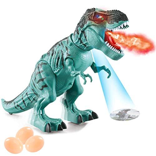Daxoon Electronic gehender Dinosaurier Walking Dinosaurier mit Projektions-Sprühnebel für Kindergeschenk -