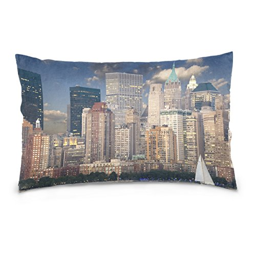 Josid Fundas de Almohada de Doble Cara de Nueva York Skyline Manhattan...