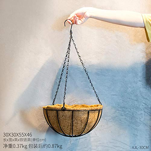 Dekoration Kreative Luftverzierungen, Die Blumenshopbalkon Hängenden Korbdecken-Teeshopdekorations-Blumentopf Hängen-30 cm Kokospalme Hängen Eisen Blumentopf (Laden Ca. 3-4 Kg)