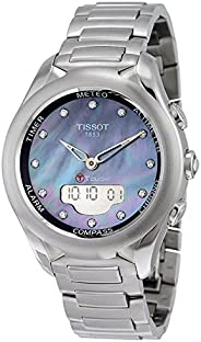 Tissot Women's Black Mother of Pearl Dial Stainless Steel Band Watch - T075.220.11.10