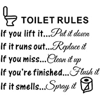TOOGOO(R) Toilet Rules Bathroom Removable Wall Sticker Vinyl Art Decals DIY Home Decor
