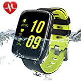 Smart Watch, Willful Fitness Tracer Waterproof with Heart Rate Monitor for iPhone Android iOS Smartphone for Women Men Swimming with Touch Screen ( Heart Rate Monitor, Activity Tracker (Pedometer, Calories, Distance), Sleep Monitor, Call & SMS Notification, Alarm, Stopwatch)