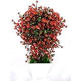 Planta artificial con maceta (23x14 cm) - Rojo