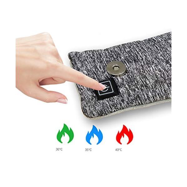 Unbne Powered USB climatizada Bufanda, Lavable a máquina climatizada Cuello del Abrigo de Invierno para Actividades al… 4