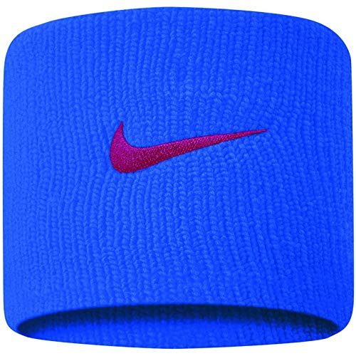 Nike Swoosh Wristbands pacific blue/university red, 2er Pack