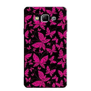 ABSTRACT BUTTERFLIES BACK COVER FOR SAMSUNG A7