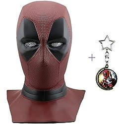 Máscara de máscara Deadpool de Yacn Marvel y traje de Deadpool, máscara de Cosplay de Deadpool Movie Style para disfraces - (máscara de cabeza completa, rojo, látex) (DP-mask)