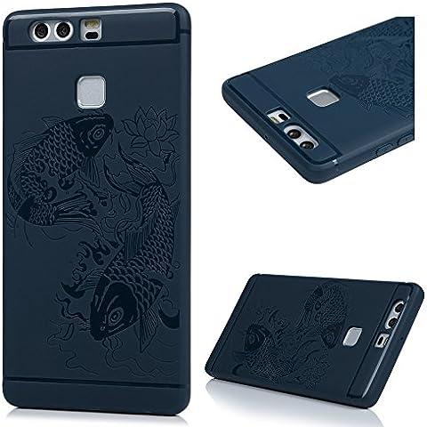 Huawei P9 Custodia Cover - Lanveni Copertura Morbido TPU Silicone Ultra Sottile per Huawei P9 (0.25 Bumper)