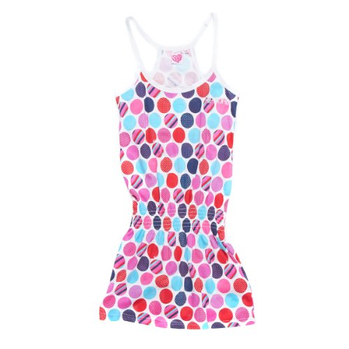 rfwear Hilo Dots Dress, optical white, JDR3GA_3262_16 (Mädchen Hi Lo Kleid)