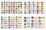 Kigima 114 Aufkleber Sticker Namens-Etiketten rechteckig Maximilian Verschiedene Größen und Tiermotive