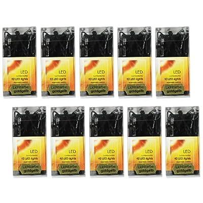 100er Pack Batteriebetriebene Lichterketten 10x10er mit grünem Kabel von Noor Living - Lampenhans.de