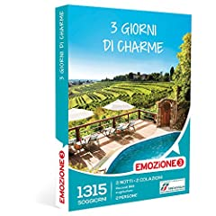 Idea Regalo - Emozione3 - Cofanetto Regalo - 3 GIORNI DI CHARME - 1320 soggiorni in B&B e agriturismi italiani