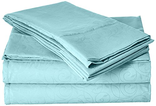 //Beste Verkäufer//eleganten Komfort Luxuriös seidig weich coziest 4er Set Bed Sheet Schönes Design Falten, mintgrün, King Size - Design Bed Sheet