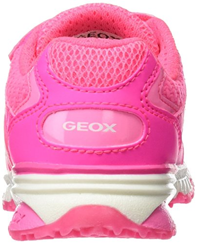 Geox J Bernie B, Sneakers Basses Fille Rose (Fluo Fuchsiac8033)