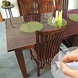 ANRO Tischdecke Tischfolie Schutzfolie Tischschutz Folie 1mm transparent 90cm x 60cm