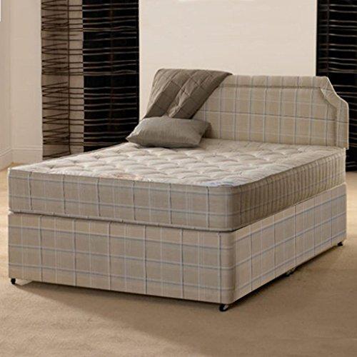 Deluxe Beds Ltd 4Ft6 Double Divan Bed Open Coil Orthopaedic 4Ft 6