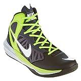 Nike Herren Prime Hype DF Basketballschuhe, Weiß/Schwarz/Grün (Schwarz/Weiß-Anthrazit-Volt), 40 1/2 EU