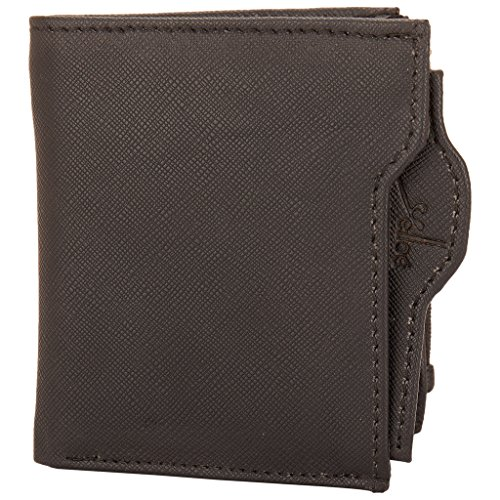 Multi Pocket Wallet With Side Zipper In Black  available at amazon for Rs.297