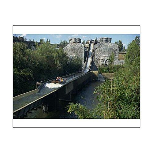 Robert Harding 10x8 Print of Water slide ride, Chessington World of Adventure, Surrey, England, United (1145806)