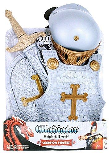 Exklusives 4-teiliges Kostüm für kleine, tapfere Ritter (Tapfere Ritter Kind Kostüme)