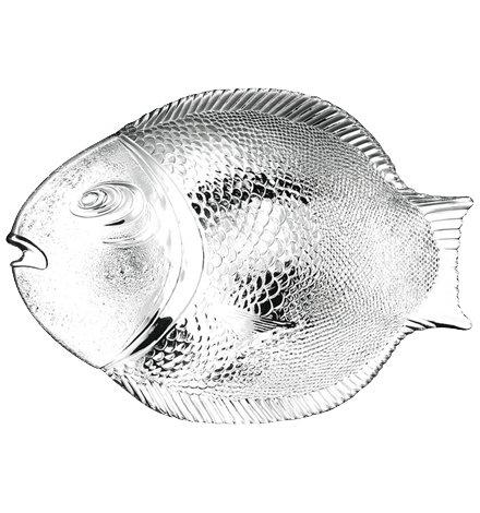 Pasabahce 10258 Marine poisson service plat 36x26cm, trempée, 1 pièce