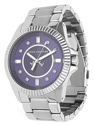 JUICY COUTURE 1900926 - Reloj analógico de cuarzo para mujer, correa de acero inoxidable color plateado