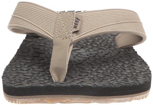 Reef Ahi Men's Sandale Thermo Flip Flop Noir (Black/tan)