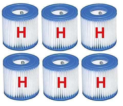 6x Intex Cartouche de filtre 29007Filtre à cartouche pour piscine Quick Up Filtre de rechange