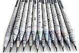 CHAVI Crayons papier journal-30 pièces (3 boîtes) 2B fabriqué à partir de 100% papier recyclé/crayon à papier journal pour l'écriture/dessin / design pour bureau/écoles