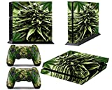 Consoles Ps4 Beste Deals - PS4 Console Design Folie Aufkleber Sticker Skin fur Sony PlayStation 4 System plus Two(2) Decals for: PS4 Dualshock Controller - weeds2 Skunk Bud