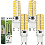 MENGS® Pack de 4 Regulable Bombilla lámpara LED 7 Watt G9, 72x 2835 SMD, Blanco cálido 3000K, AC 220-240V