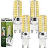 MENGS® Pack de 4 Regulable Bombilla lámpara LED 7 Watt G9, 72x 2835 SMD, Blanco cálido 3000K, AC 220-240V
