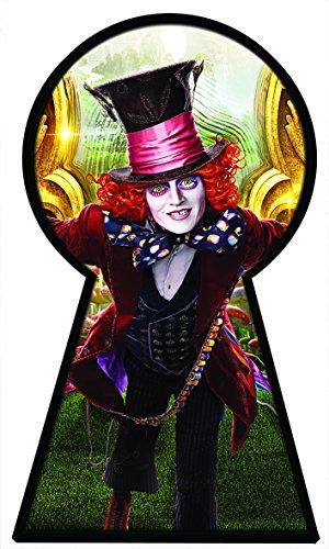 Alice in Wonderland 2Alice Through the Looking Glas voller Farbe Magic Fenster Schlüsselloch Bild Wandtattoo Wandbild Poster Größe 1000mm breit x 600mm tief (groß) V014 (Schlüsselloch Alice)