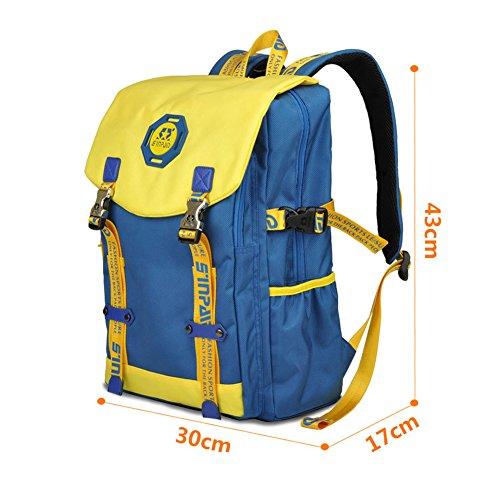 YAAGLE Rucksack Laptoptasche Schüler Schultasche Freizeit schick Reisetasche Notebook Gepäck Schultertasche-hellblau blau