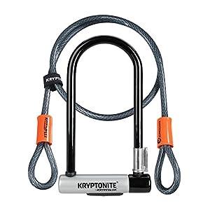 Kryptonite (001966/001072 ANTIRROBO U KRYPTOLOK Standard w/Flex Cable Y FLEXFRAME Bracket (102x229) Candado, Calidad, Talla Única