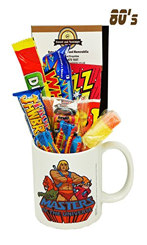 He-Man and The Masters of The Universe Mug with an eternian Selection of 1980's Retro Sweets