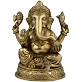 Religious Statue And Figurine Ganesha Idol Hindu Decor 12.7 X 19.05 X 11.43 Cm