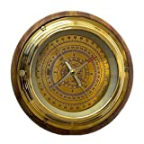 Best Improvements Outdoor Thermometers - Kartique Nautical Compass in Wood n Brass in Review