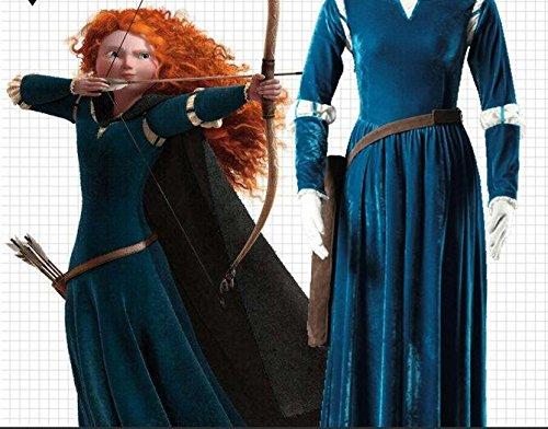 Preisvergleich Produktbild Kleid inspiriert Merida 'Legenden der Highlands' (Erwachsen/Hohe Qualität/Cosplay)