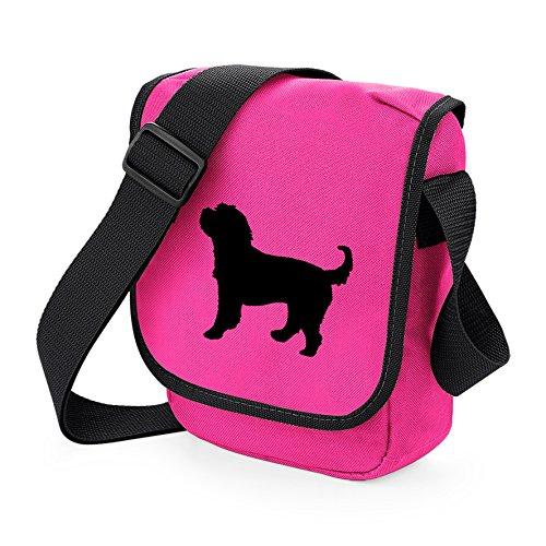 Bag Pixie, Borsa a spalla donna Black Dog Pink Bag