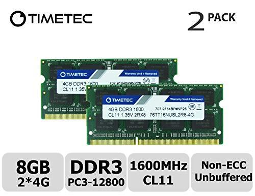 Timetec Hynix IC 8GB Kit (2x4GB) DDR3L 1600MHz PC3-12800 Unbuffered Non-ECC...