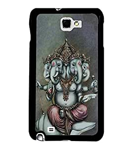 FUSON Lord Ganesha Chatur Mukhi Designer Back Case Cover for Samsung Galaxy Note 2 :: Samsung Galaxy Note Ii N7100