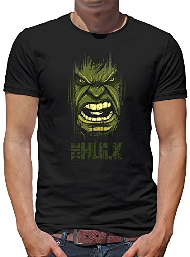 TLM Hulk Face T-Shirt Herren XL (Kostüm Flash Serie Tv)