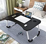 DECORVAIZ Multipurpose Laptop Table with Dock Stand & Non-Slip Legs Foldable and Portable Lapdesk for Stud